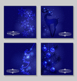 blue backg set vector image vector image