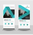 blue label roll up business brochure flyer banner vector image vector image