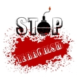 Bomb Icon Stop Terrorism Banner vector image