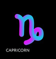 capricorn text horoscope zodiac sign 3d shape vector image vector image