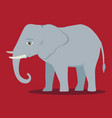 cartoon elephant large mammal forest vector image