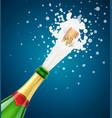 champagne bottle explode vector image vector image