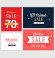 christmas sale banner set vector image vector image