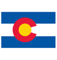 Colorado flag vector image vector image
