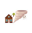 cottage house danger of being destroyed by storm vector image vector image