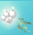 decorative christmas background vector image vector image