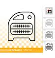 domestic heater simple black line icon vector image