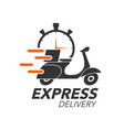 express delivery icon concept scooter motorcycle vector image