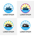 family boat logo image vector image vector image