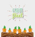 farm pixel cartoons vector image vector image