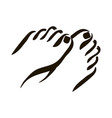 foot care icon woman feet vector image