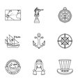 Geography icons set outline style vector image vector image