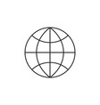 Globe icon outline vector image vector image