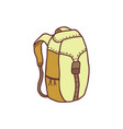 hand drawn backpack sketch colored vector image