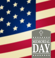 Happy Memorial Day background template Happy vector image