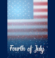 independence day poster 4th july vector image vector image