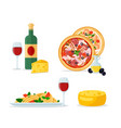 italian traditional food and mill color cartoon vector image