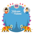 Kids and Elephant Welcome to Thailand Frame vector image vector image