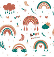 kids rainbow pattern seamless ba vector image