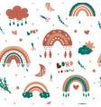 kids rainbow pattern seamless ba vector image vector image