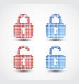 lock - pixel icon vector image