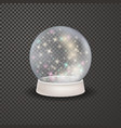 magic 3d crystal xmas snowglobe template vector image vector image