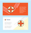 medical abstract corporate business banner vector image vector image