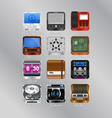 Mobile icons for your device vector image vector image
