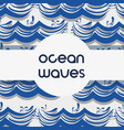 natural ocean waves background design vector image vector image