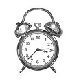 old fashioned alarm clock vector image vector image