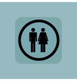 Pale blue man woman sign vector image vector image