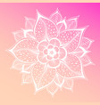 pastel pink background flower mandala vintage vector image