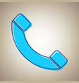 phone sign sky blue icon vector image