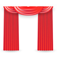 Red curtains on a white background vector image vector image
