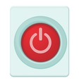 Red power on or off button icon cartoon style vector image