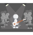 Rock player icon vector image