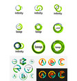 round circle business logos vector image vector image