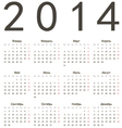 Russian 2014 year calendar vector image