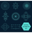 Sacral Geometry Set vector image vector image