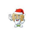 santa marolo fruit cartoon character mascot style vector image vector image
