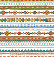 Seamless hand-drawn ethnic pattern vector image