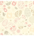 Seamless pattern of Easter eggs vector image vector image