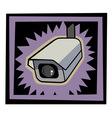 security camera vector image