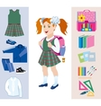Set objects for the school vector image vector image