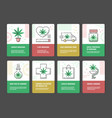 set of marijuana consumption vector image vector image