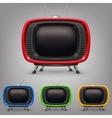 Set retro color tv vector image vector image