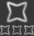 Silver line square logo design set vector image vector image