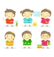 Six little girls vector image
