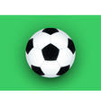 Soccer ball on green vector image vector image