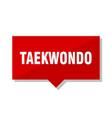 taekwondo red tag vector image vector image